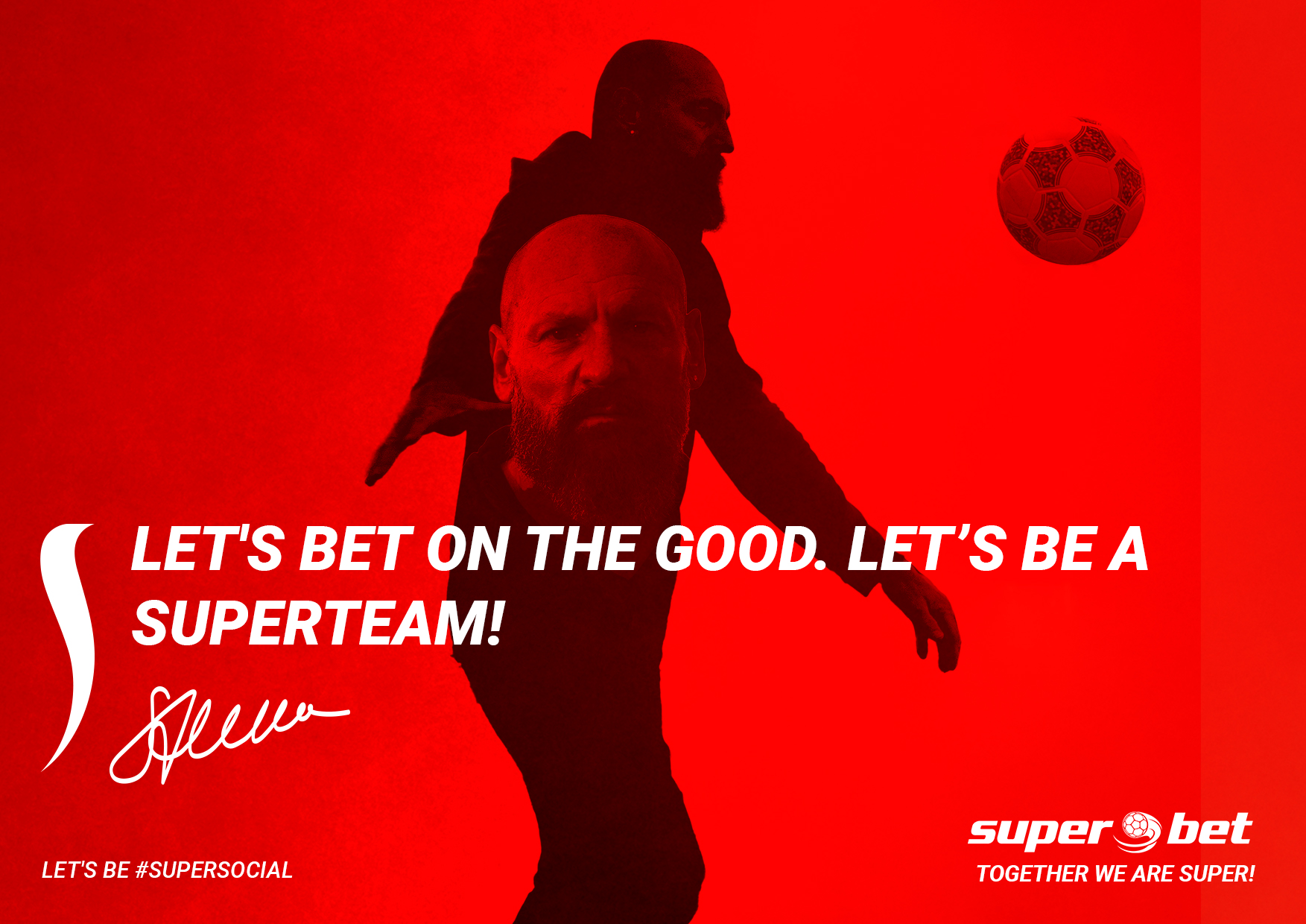 The #SUPERSOCIAL platform by Superbet and Rusu+Borțun encourages Romanians to win the match with 2020